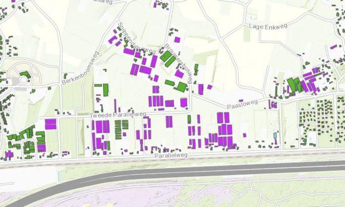 Vooral in de buitengebieden zijn veel daken asbestverdacht, zoals het voormalige eendengebied bij Harderwijk.