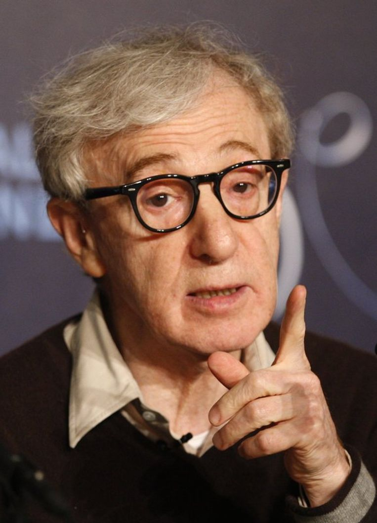 Woody Allen (74), Mike Leigh (67) en Manoel de Oliveira (101) willen niets weten van pensioen. Foto EPA Beeld