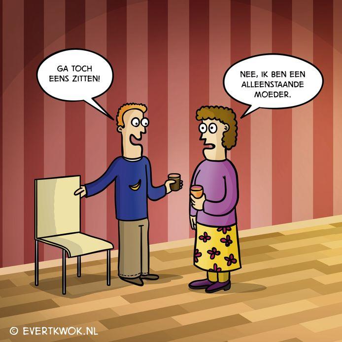 Eén van de gewraakte door Bart Lauwers gestolen cartoons.