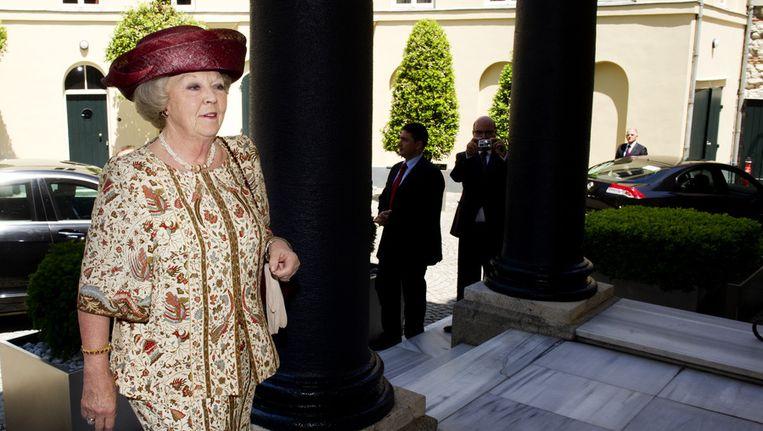 Koningin Beatrix tijdens een bezoek aan Istanbul. Beeld ANP