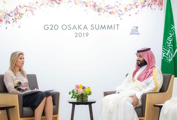 Maxima ontmoette Mohammed bin Salman tijdens de G20 in Saoedi-Arabië