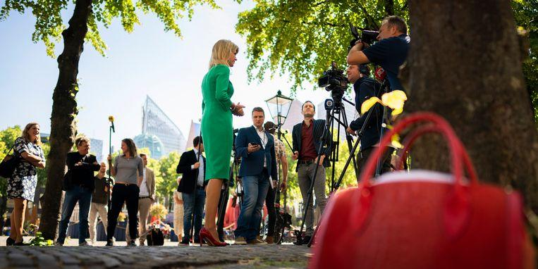 DEN HAAG - Mona Keijzer (CDA) maakte dinsdag op het Plein in Den Haag bekend dat ze meedoet voor de strijd om het lijsttrekkerschap van het CDA.  Beeld Freek van den Bergh
