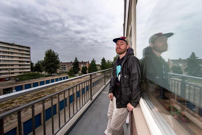 De Zwolse rapper Sticks. Foto: Frans Paalman