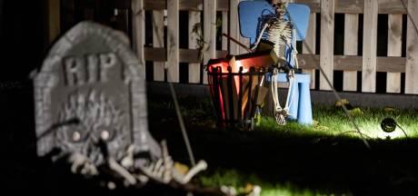 Graven en skeletten in een Lochemse voortuin: 'Leuk voor de kinderen'