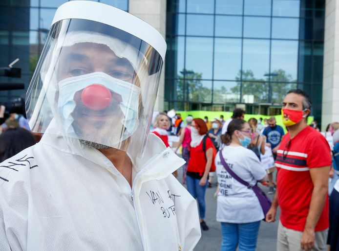 Een demonstratie in Brussel. Foto ter illustratie.