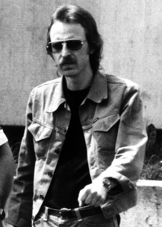 Een foto van Knut Folkerts uit mei 1980, vlak voor zijn proces in Duitsland. In 1977 vermoordde hij de Utrechtse rechercheur Arie Kranenburg voordat hij door de Nuenense Flip Raap werd aangehouden.
