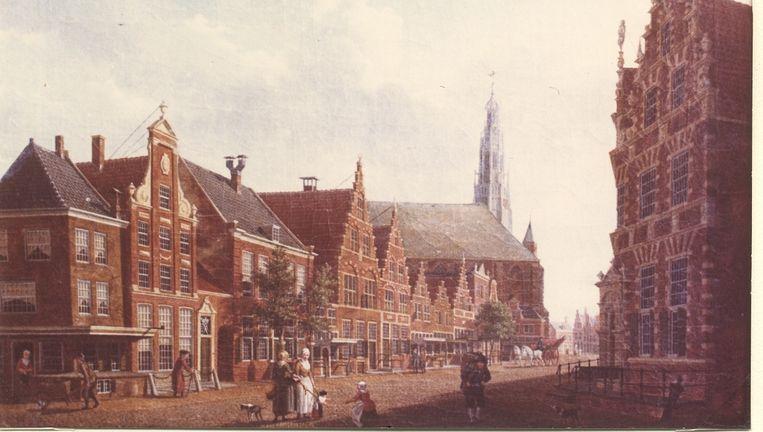 Het schilderij Nieuwstraat in Hoorn van Izaak Ouwater uit 1784, behoort tot de vijf teruggevonden doeken. Beeld ANP Handouts