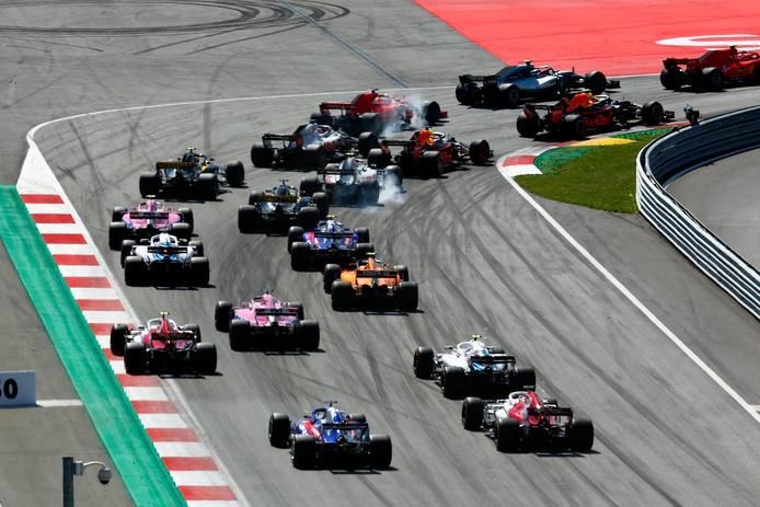 De Formule 1-race van vorige week op de Red Bull Ring in Oostenrijk.