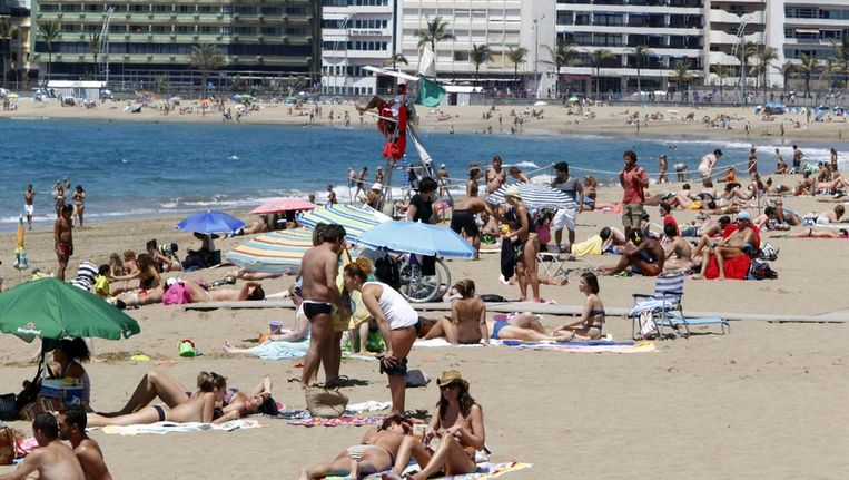 Las Palmas in Gran Canaria Beeld EPA