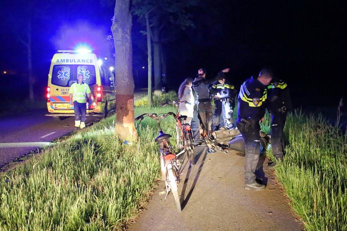 Een scooterrijder botste vrijdagnacht op een boom in Reusel.