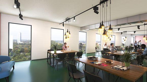 Het studiecafé met panoramisch zicht over Gent