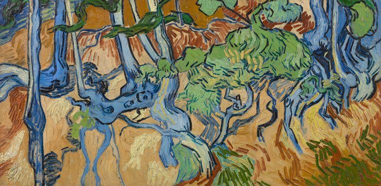 Het laatste schilderij van Van Gogh: Boomwortels. Vincent van Gogh, Auvers-sur-Oise, 27 juli 2020, Collectie: Van Gogh Museum (Vincent van Gogh Stichting) Beeld Collectie: Van Gogh Museum