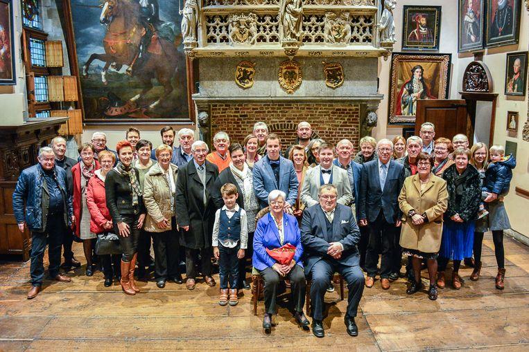 André en Annie werden samen met hun familie feestelijk ontvangen in het stadhuis van Oudenaarde