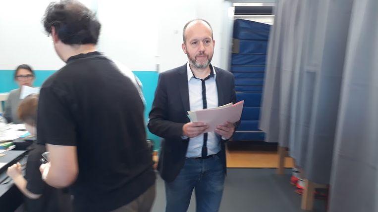 Tom De Meester (PVDA) ging stemmen in Gentbrugge
