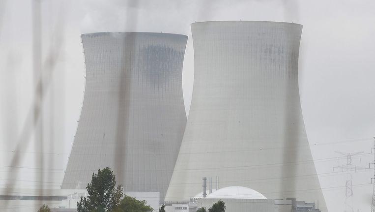 Illustratie van de kerncentrale in Doel.