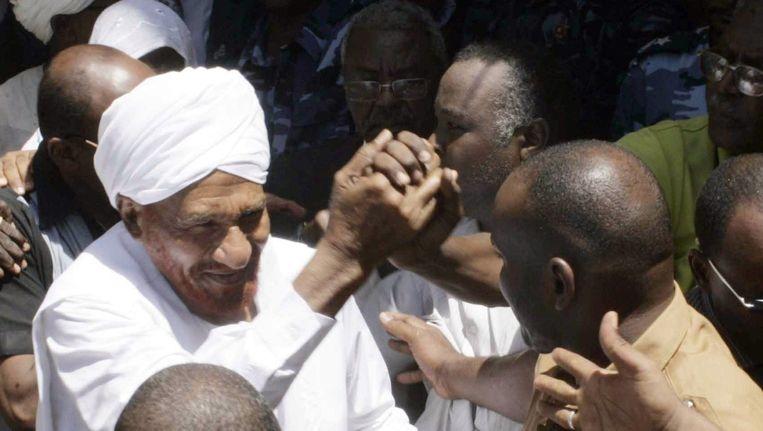 De Soedanese oppositieleider Sadiq al-Mahdi.