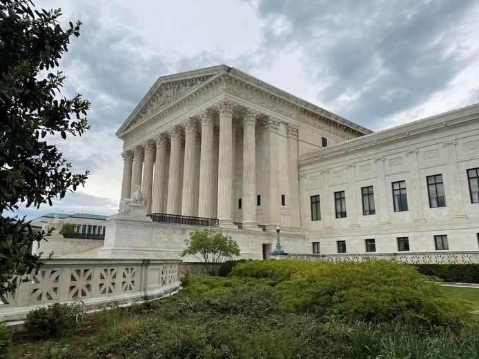 Het Hooggerechtshof van de Verenigde Staten in Washington.