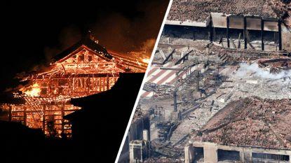 Wereldberoemd Japans Shuri-kasteel gaat in vlammen op