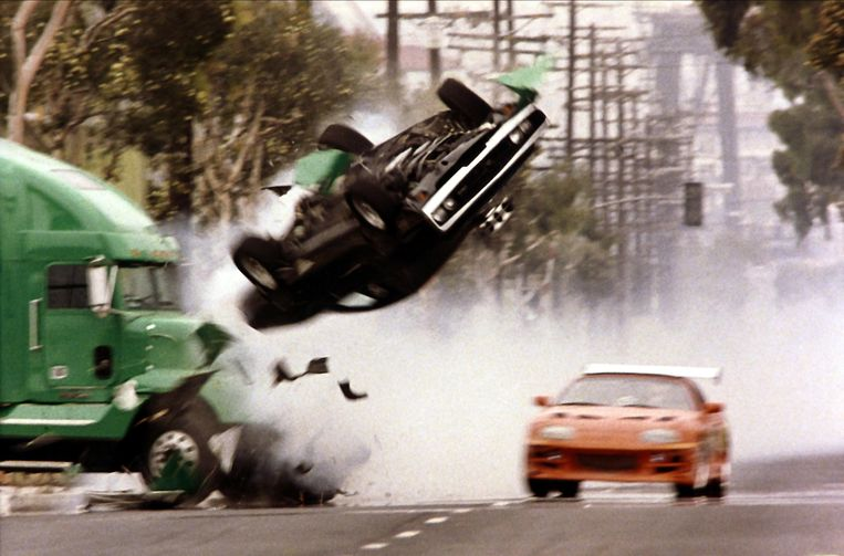 Crash in The Fast and the Furious (2001). Beeld Imageselect