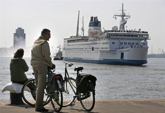 De Africa Mercy in Rotterdam.