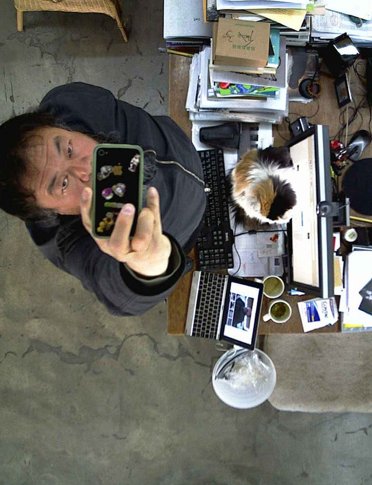 Ai Wei Wei door zijn live-verbinding Beeld null