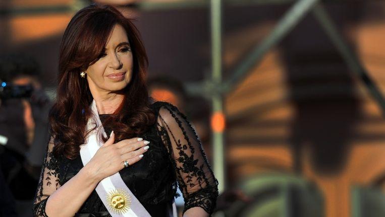De Argentijnse president Cristina Fernandez de Kirchner bij haar inauguratie eerder deze maand. Beeld afp