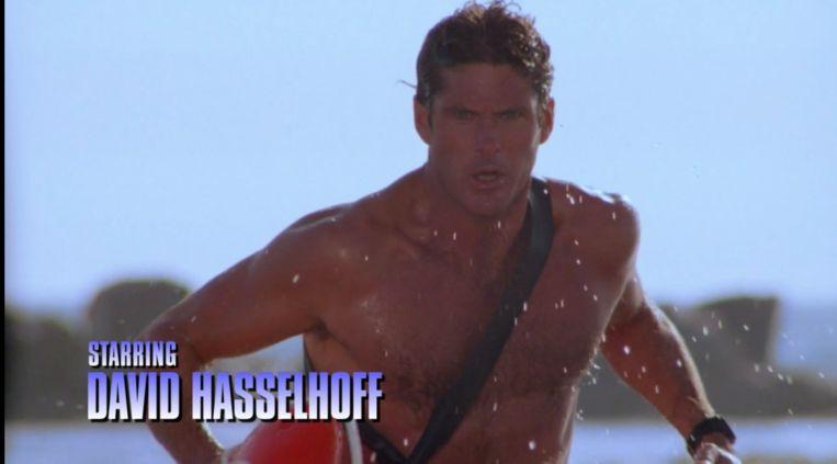 David Hasselhoff als Mitch Buchanon in Baywatch. Beeld Videoland