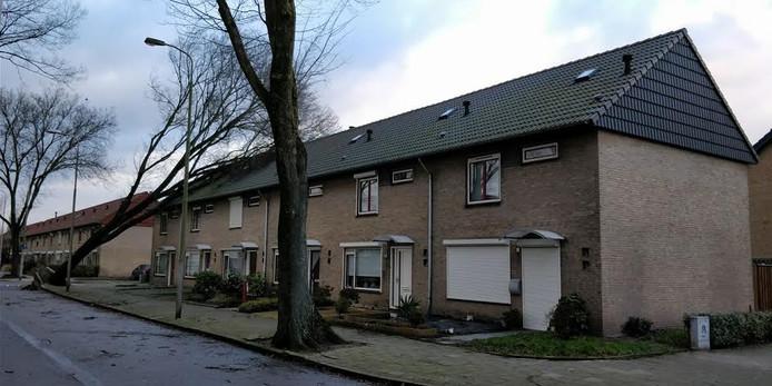 Stormschade op de Leuvenlaan in Eindhoven. Foto Martijn Tuijten