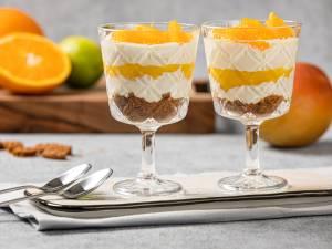 Wat Eten We Vandaag: Sinaasappel cheesecake glaasjes met mango