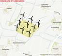 Windpark Stijbeemden  Berghem, Haren, Deursen-Dennenburg, Huisseling en ook de buurtschap Duurendseind (bij Berghem)