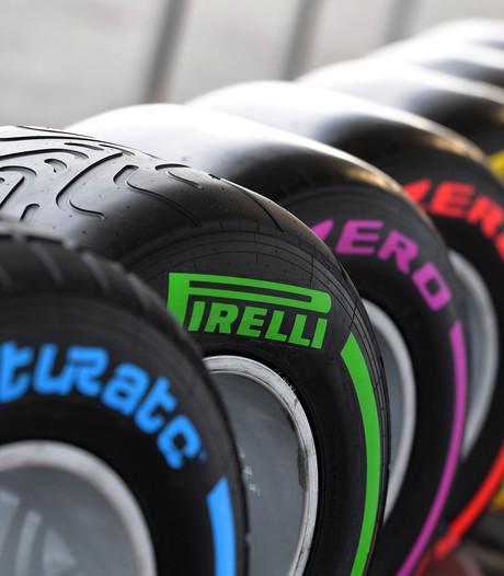 Zeven droogweerbanden in komend Formule 1-seizoen