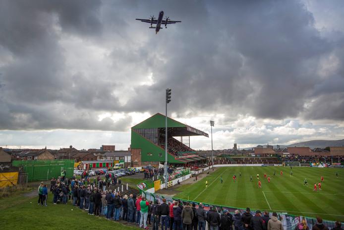 The Oval in Belfast, de thuishaven van Glentoran.