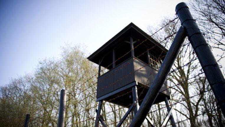 De wachttoren op het terrein van het voormalige Kamp Westerbork. Foto ANP Beeld