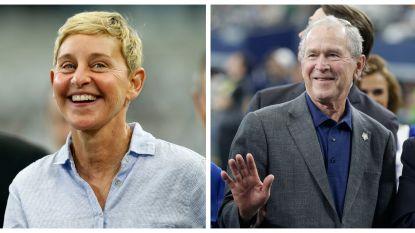 Ellen DeGeneres snapt ophef over haar klik met George W. Bush niet