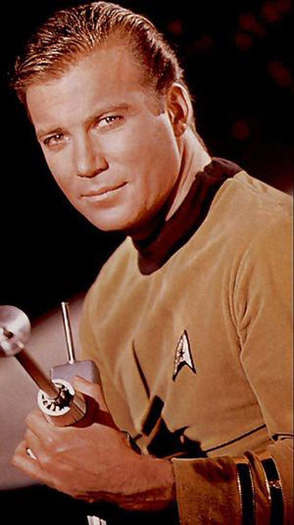 William Shatner als kapitein Kirk in Start Trek.