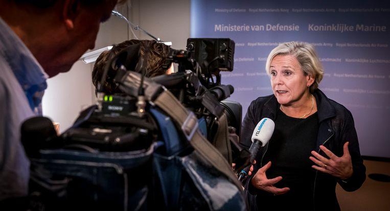 Minister Ank Bijleveld (Defense) staat onder zware druk. Beeld Lex van Lieshout/ANP