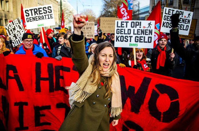 In Den Haag gingen universitair medewerkers vorig jaar al de straat op.
