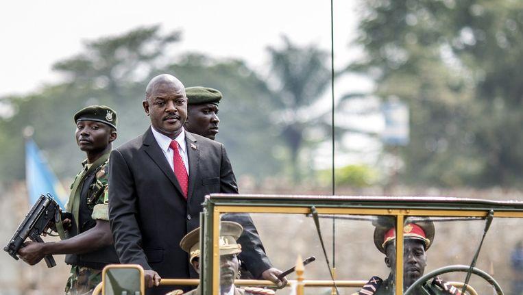 President Pierre Nkurunziza tijdens de viering van de onafhankelijkheidsdag eerder deze maand.