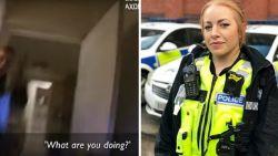 Bloedstollend moment: agente filmt hoe inbreker wapen op haar richt