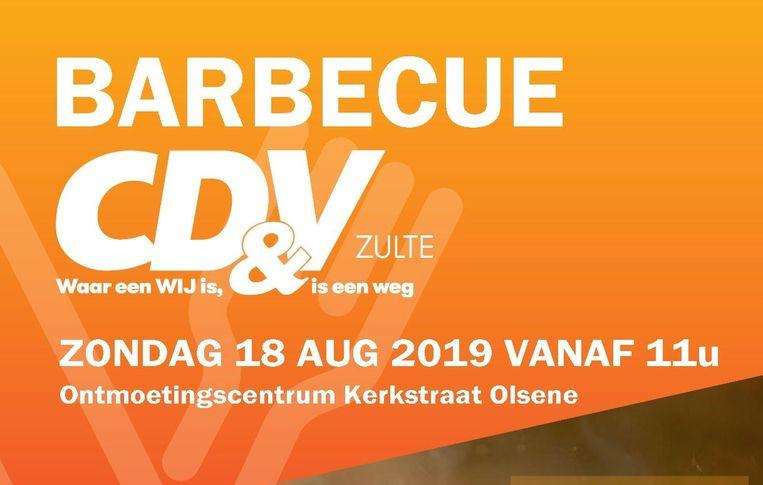 CD&V Zulte organiseert een familiebarbecue.