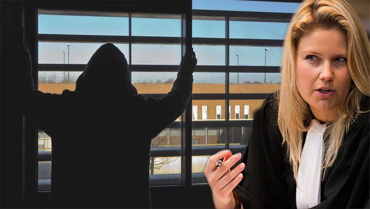 Advocate Joke Vanbelle klaagt de vernederende controles in gevangenissen aan.