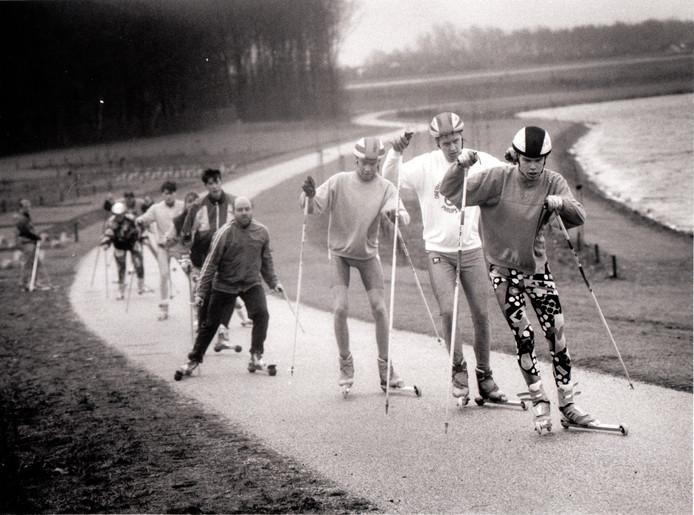 De Rolski-langlaufvereniging Aquabest in 1993.