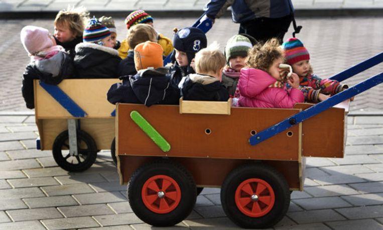 Ondanks de bedreigingen bij verschillende scholen in Weesp, is er volgens de politie geen reden om kinderen thuis te houden. Foto ANP Beeld