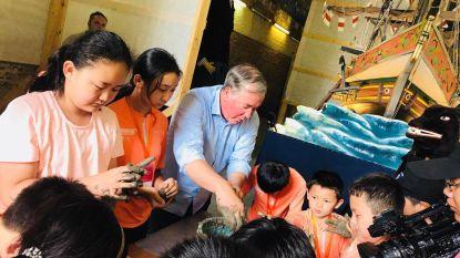 Boomse klei verschijnt op grootste commerciële Chinese tv-zender