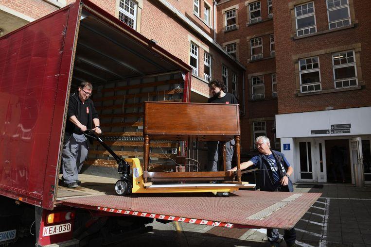 Het Hammondorgel verhuist naar SLAC/Conservatorium op de Kapucijnenvoer.