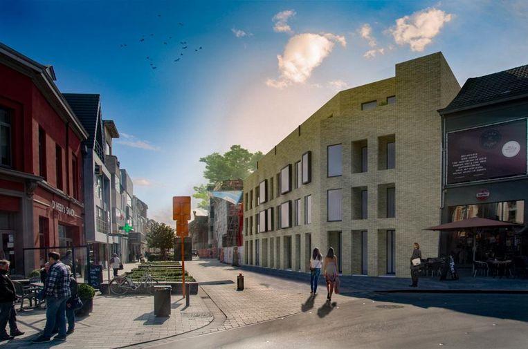 Een impressie van het nieuwe complex op het Stationsplein.