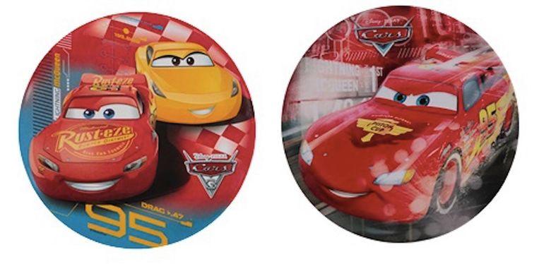 Deze Disney-bordjes van Cars werden enkele weken geleden al uit de rekken gehaald.