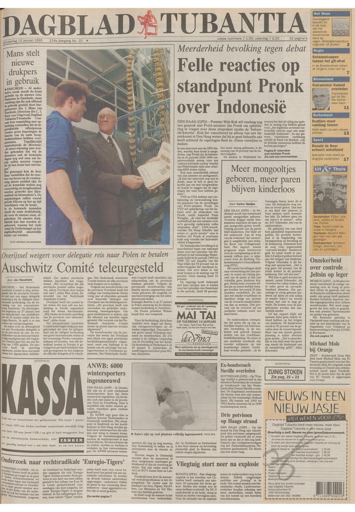 Bestel Een Historische Voorpagina Van Onze Krant Leuk Als