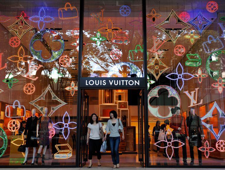 De Louis Vuitton winkel in Tokio