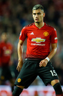 Oud-PSV'er Andreas Pereira in het shirt van Manchester United.